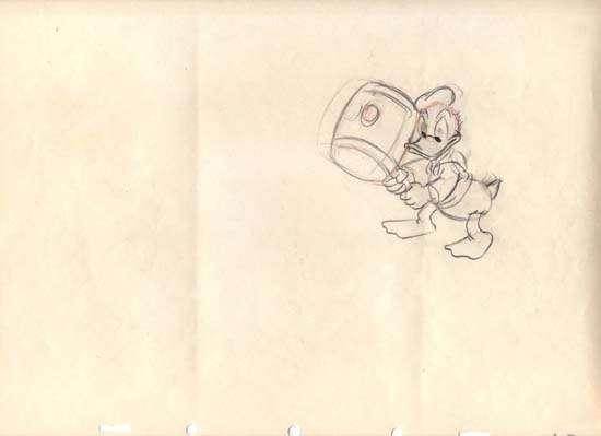 Original Donald Duck Drawing Walt Disney's Donald Duck